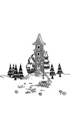 Moomin Wallpaper, Moomin Valley, Tove Jansson, Cute Wallpapers, Living Room Decor, Animation, Watercolor, Drawings, Illustration
