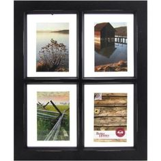 Better Homes and Gardens 4-Opening Black Windowpane Collage