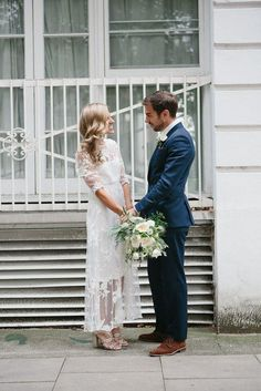 vintage wedding dress; Peach & Jo Photography Via Rock and Roll Bride