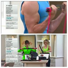 Marie Osmond at QVC w/ the Body Gym