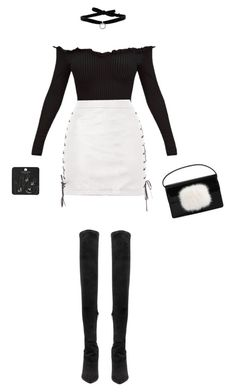 """Untitled #567"" by fxshionableness ❤ liked on Polyvore featuring Topshop, Yeezy by Kanye West, DANNIJO, Yves Saint Laurent, white, black and blackandwhite"