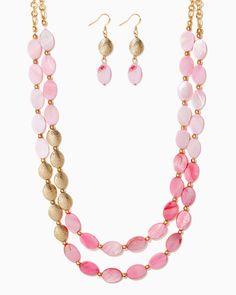 charming charlie | Coastal Beads Necklace Set | UPC: 410007548441 #charmingcharlie