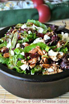 Cherry, Pecan & Goat Cheese Salad | Lemon Tree Dwelling