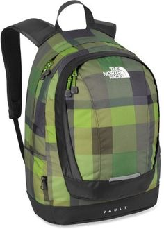 f76a124b80 Love the green pixel plaid North Face Vault Backpack