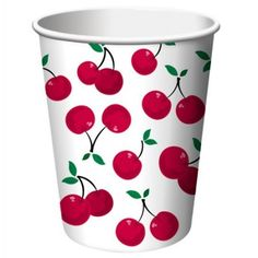 Cherry Gingham 9oz Hot/Cold Paper Cups   8ct