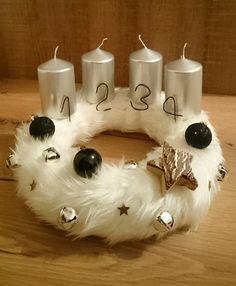 Adventi koszorú! Karácsony! Szőrmés! Advent wreath! Fur!