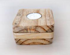 Mueblesdepalets.net: 10 candelabros hechos con bloques de madera de palets