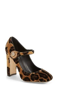Dolce&Gabbana Leopard Print Mary Jane Pump (Women) available at #Nordstrom