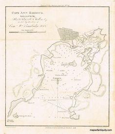 Antique Nautical Chart Of Cape Cod Original Vintage Rare - Antique map reproductions for sale