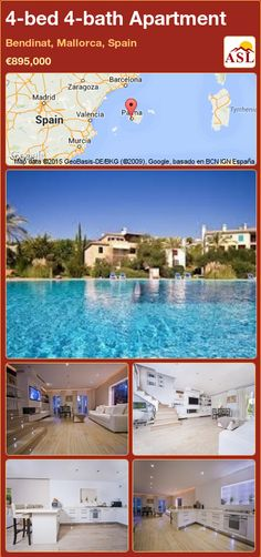 Apartment for Sale in Bendinat, Mallorca, Spain with 4 bedrooms, 4 bathrooms - A Spanish Life Murcia, Valencia, Barcelona, Apartments For Sale, Tropical Garden, Townhouse, Terrace, Swimming Pools, Golf Courses