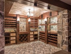 Rustic custom Wine Cellar by Papro Consulting 1c