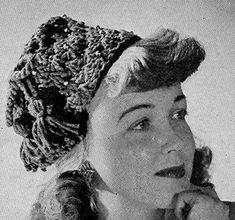 Tassel Beaded Hat #crochet pattern originally published in Easy to Make Hats, Spool Cotton Co #192. #crochetpatterns