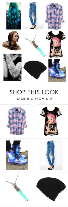 """""""Alt Look"""" by bethany-lane ❤ liked on Polyvore featuring Rails, Kill Star, ASOS, Vans, galaxy, aliceinwonderland, tattoos, starwars and Checkered"""