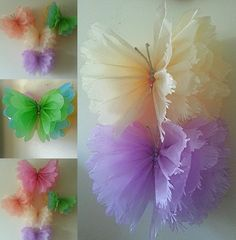 Girls birthday party decorations butterfly bedroom hanging Tissue paper pom poms in Home, Furniture & DIY, Celebrations & Occasions, Party Supplies | eBay!
