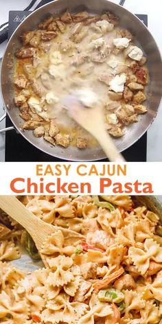 Creamy Cajun Pasta, Cajun Shrimp Pasta, Healthy Dinner Recipes, Cooking Recipes, Donut Recipes, Chicken Pasta Recipes, Chicken Alfredo Cajun, Healthy Chicken Pasta, Chicken Broccoli
