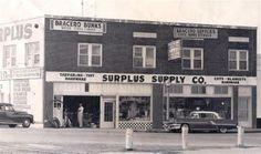 Army Surplus on Jackson St. Harlingen Texas, Cot Blankets, Rio Grande Valley, Army Surplus, South Texas, Tarpaulin, Wood Steel, Old Photos, Tent
