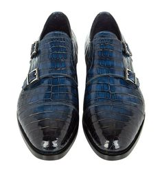 Santoni Carter Croc Monk Shoe - Look Truly Dapper With Croc Monk Shoes From Santoni. Crafted From Genuine Crocodile Skin, Elevated On A Genuine Leather Sole Oxford Shoes Outfit, Leather Dress Shoes, Mens Dress Outfits, Men Dress, Crocs Shoes, Men's Shoes, Shoes Men, Shoes Style, Expensive Mens Shoes