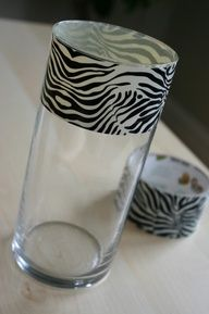 Zebra duct tape decoration ideas - Google Search.... add this to a vase and get some hot pink daisy's :)