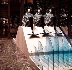 "MONCLER,""When all else fails,be a Mermaid...... Introducing Mermaid Academy"",  pinned by Ton van der Veer"