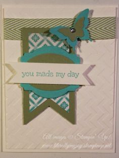 You Made My Day! #DIY #stampinup #butterfly