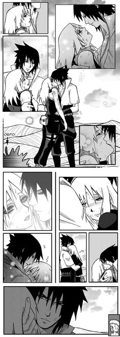 sasusaku I love animes that have guys looking fierce while holding their girl.