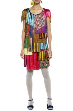 Shop Minidresses Women in the Missoni Online Store. Secure payments and worldwide delivery. Mini Dress With Sleeves, Fringes, Missoni, Cap Sleeves, Summer Dresses, Shopping, Woman, Delivery, Store