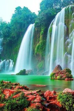 Gardens Discover Beautiful waterfall in Hanoi Vietnam Beautiful Waterfalls Beautiful Landscapes Cool Landscapes Landscape Paintings Places Around The World Around The Worlds Beautiful World Beautiful Places Beautiful Pictures Beautiful Waterfalls, Beautiful Landscapes, Places To Travel, Places To See, Travel Destinations, Places Around The World, Around The Worlds, Wonderful Places, Beautiful Places