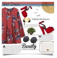 """""""Its a Shirt ! its a Dress ! Its a Shirtdress !"""" by lifeisworthlivingagain ❤ liked on Polyvore featuring Giuseppe Zanotti, Diane Von Furstenberg, Hermès, Nearly Natural and shirtdress"""