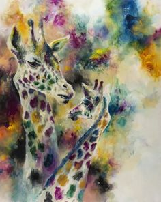 Katy Jade Dobson is a UK based oil painter from Yorkshire. Katy Jade Dobson uses a number of mediums to paint her amazing pieces. Giraffe Art, Elephant, Oil Painters, Gcse Art, Wildlife Art, Watercolor Art, Painting Abstract, Artist Painting, Painting Prints