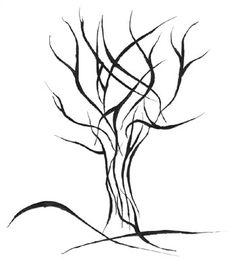 tribal tree - something like this as a tribute tat? incorporate names as leaves on the branches?