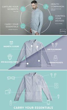 10ELEVEN9, a camisa minimalista mais inteligente do mundo #moda #tecnologia #inovação