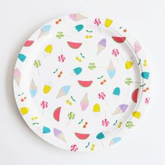 Set of 8 Summer Time Plates   Carousel