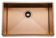 """Make the foundation of your ROHL Water Appliance shine with the ROHL 24"""" Luxury Copper Stainless Kitchen Sink #ROHLWaterApp"""