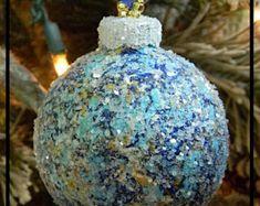 Nautical ornament | Etsy Nautical Christmas, Christmas Bulbs, Holiday Decor, Unique, Handmade, Etsy, Image, Hand Made, Christmas Light Bulbs