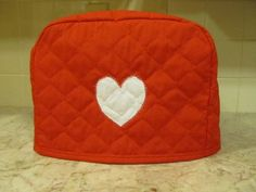 2 Slice Heart Toaster Cover by cozykitchencovers on Etsy, $12.00