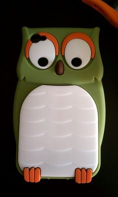 green owl phone case