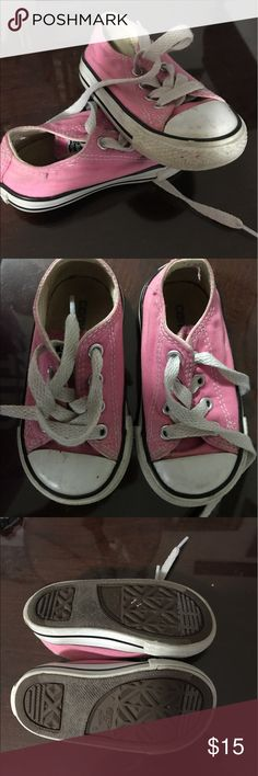 Toddler Converse Size 5 toddler converse pink shoes. Excellent condition, a few scuffs on white parts that can be wiped clean with magic eraser! Converse Shoes Sneakers
