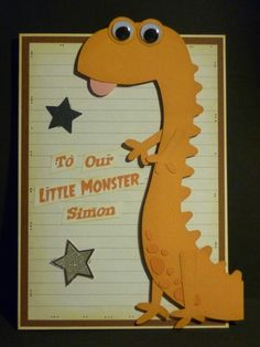 Monster themed card for the little monster in your family