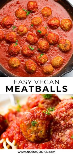 Italian style easy vegan meatballs are so easy to make with pantry staples! Hearty, filling and they hold up in marinara sauce. Italian style easy vegan meatballs are so easy to make with pantry staples! Hearty, filling and they hold up in marinara sauce. Easy Vegan Dinner, Vegan Dinner Recipes, Vegetarian Recipes, Healthy Recipes, Vegetarian Italian, Vegan Recipes Plant Based, Veggie Recipes, Whole Food Recipes, Cooking Recipes