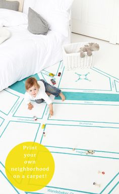 Amo a idéia! Imprima seu próprio bairro em um tapete!