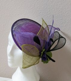 Purple Fascinator Purple Ombre Fascinator Hat by FascinatorsFirst