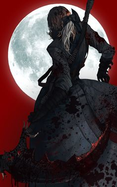 Scrap as a character hunts down nightmarish creatures, with blood stained guns and other weapons Dark Blood, Old Blood, Character Inspiration, Character Art, Character Design, Character Ideas, Dark Fantasy Art, Dark Art, Blood Hunter