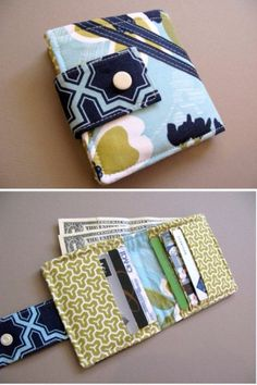 Cool Crafts  You Can Make With Fabric Scraps - Bifold Wallet  - Creative DIY Sewing Projects and Things to Do With Leftover Fabric and Even Old Clothes That Are Too Small - Ideas, Tutorials and Patterns http://diyjoy.com/diy-crafts-leftover-fabric-scraps