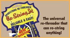 get the drawstring back in your sweatshirt. Re-String It The Universal Re-Threader