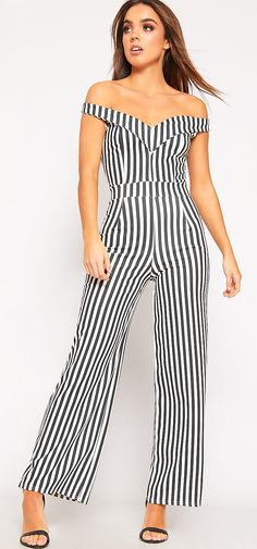 3ac5a48a0eb Felicity Bardot Striped Wide Leg Jumpsuit