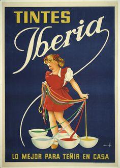 Tintes Iberia :: Lo mejor para teñir en casa (by Falgas) - #Vintage #Posters #Spain