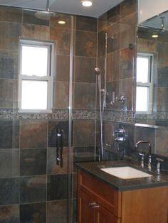 slate bathroom ideas - Google Search