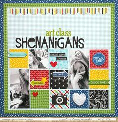 Art Class Shenanigans - Scrapbook.com