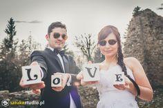 love cubes, sesja ślubna, zamek w Lanckoronie