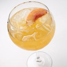 Peach Wine Cooler    Cool down with this easy homemade peach wine cooler. Serve it in a wineglass with plenty of ice.